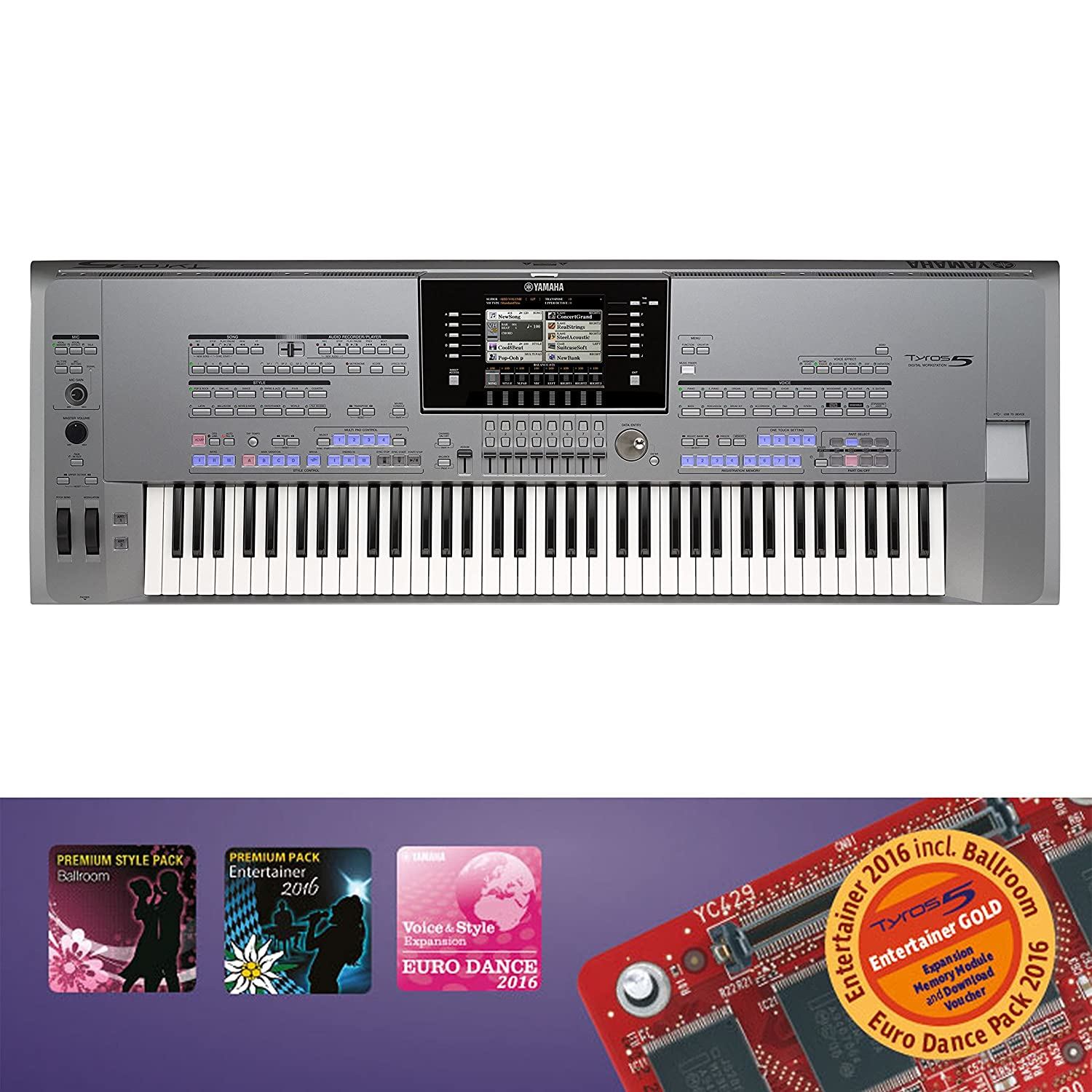 YAMAHA TYROS 5 76 KEYS: Amazon co uk: Musical Instruments
