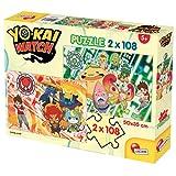 Lisciani Giochi 60672 - Puzzle Yokai Watch a New Adventure Begins, 2 x 108 Pezzi