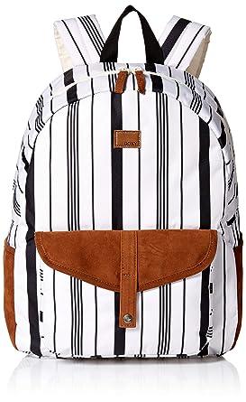 589f42d58c Roxy Junior's Carribean Backpack, marshmallow licorice stripe 1SZ