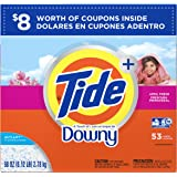 Tide With a Touch of Downy HE Turbo Powder Laundry Detergent, April Fresh Scent, 53 Loads, 98 oz