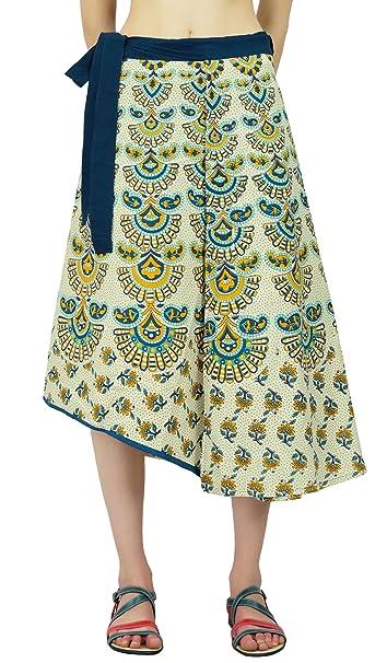 sheshe Modelo De Paisley del Abrigo De Algodón Falda Pareo Hippie Mágico: Amazon.es: Ropa y accesorios