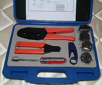RG 8 213 Coax RF Cable Ratchet CRIMPER TOOL /& 10 N Male Low VSWR Crimp Connector