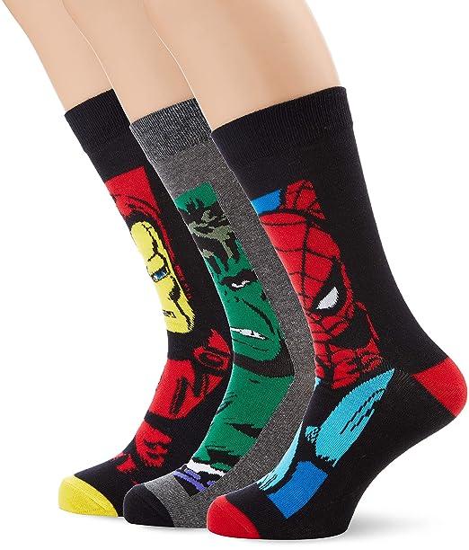 New Look Marvel Boxed, Calcetines para Hombre, Multicolor (Mulit/Coloured 99), Talla única: Amazon.es: Ropa y accesorios