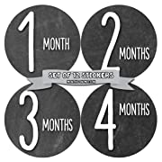 Baby Month Stickers by Months In Motion | 12 Monthly Milestone Stickers Chalkboard (1035)