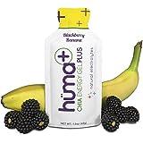 Huma PLUS - Chia Energy Gel, Blackberry Banana, 12 Gels - Natural Electrolyte Enhanced Energy Gel