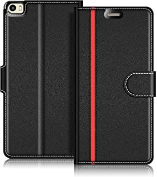 COODIO Funda Huawei P8 MAX con Tapa, Funda Movil Huawei P8 MAX, Funda Libro Huawei P8 MAX Carcasa Magnético Funda para Huawei P8 MAX, Negro/Rojo: Amazon.es: Electrónica