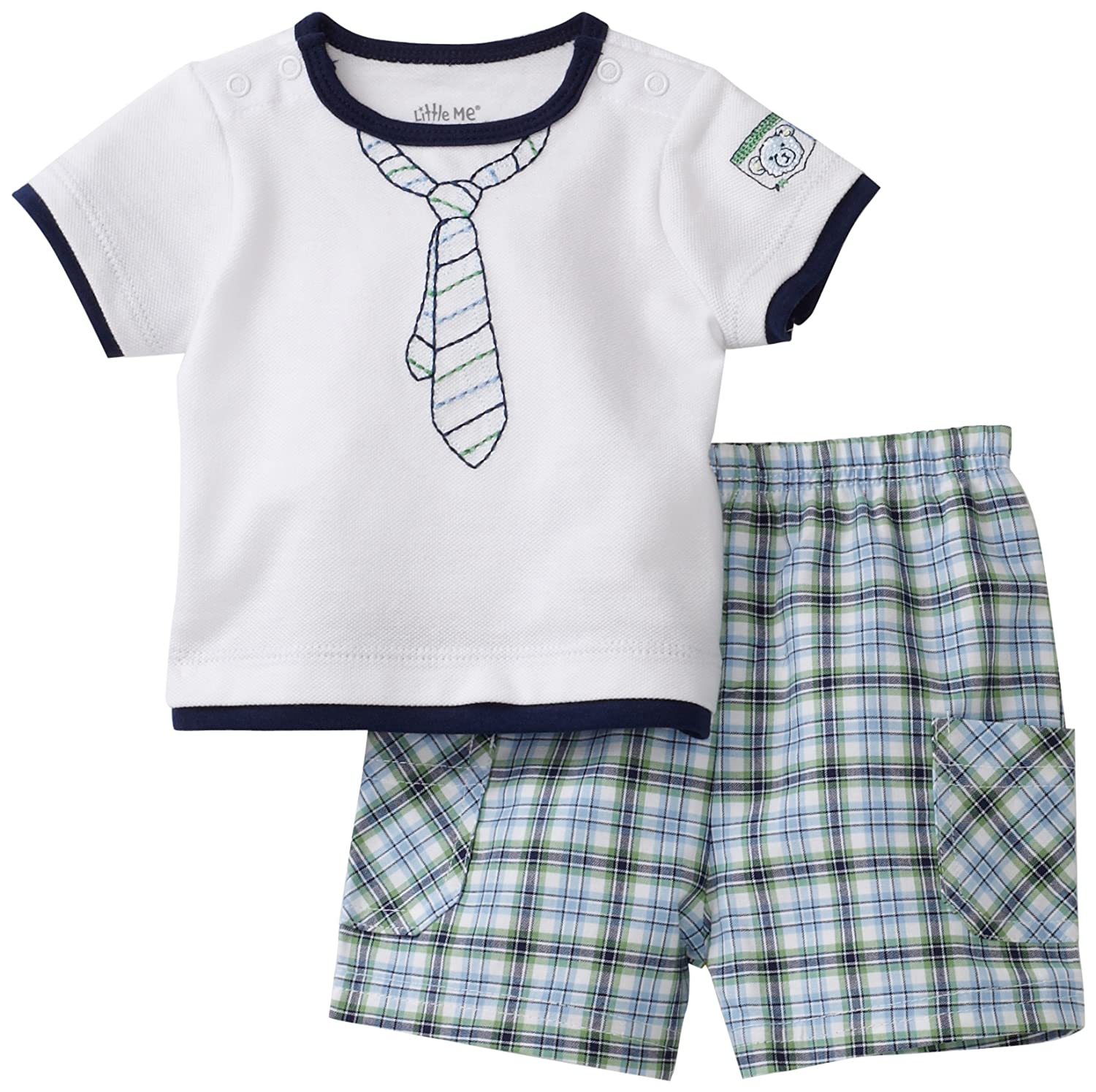 Little Me Baby-Boys Newborn Club Tie Short Set