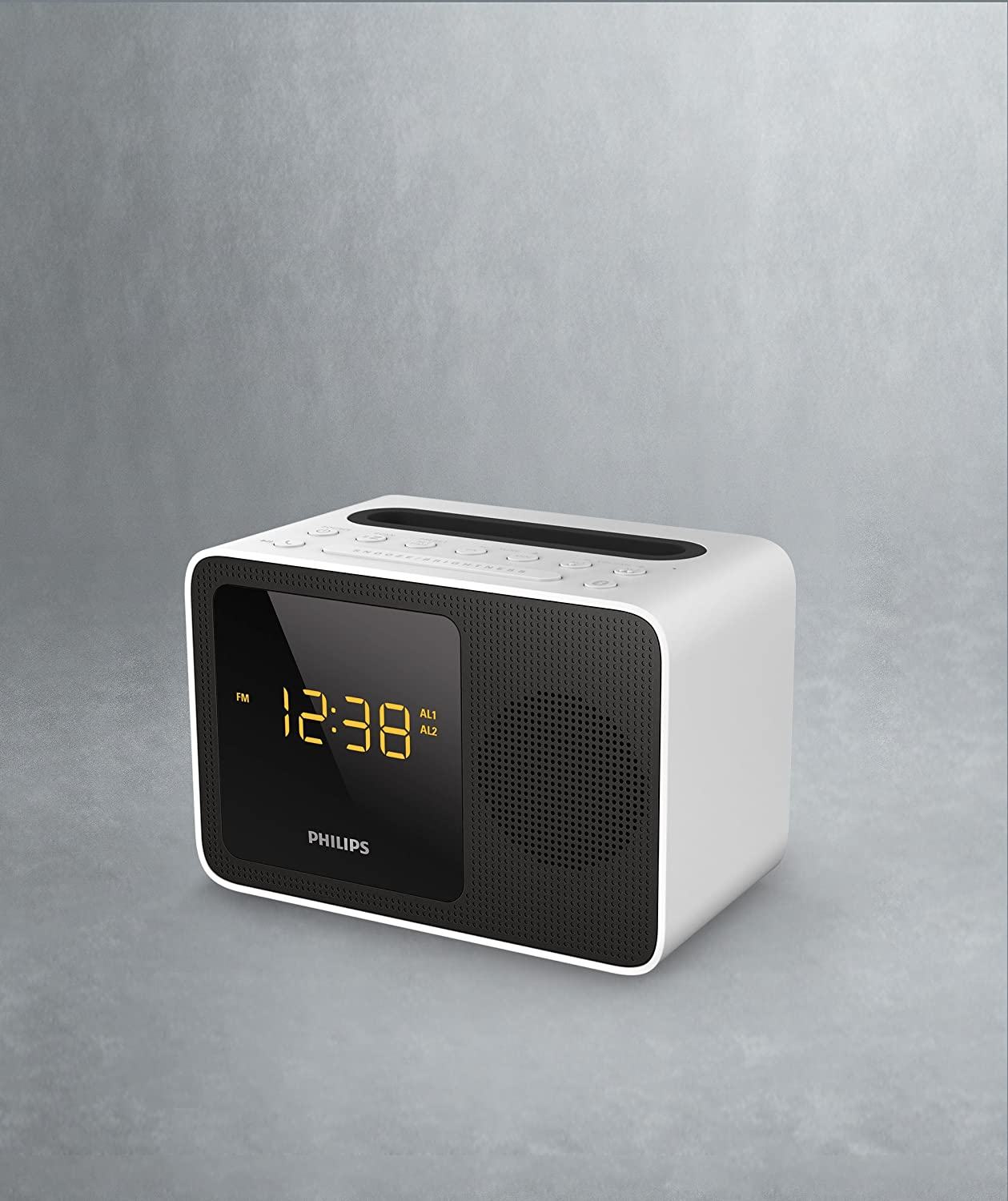 Philips AJT5300W/12 - Radio portátil (Digital, FM, 87,5-108 MHz, 2,7 W, 50 db), Blanco