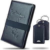 STRAVAXO® Funda para pasaporte – Funda para pasaporte de piel sintética [4] Variantes de color – Con etiquetas de…
