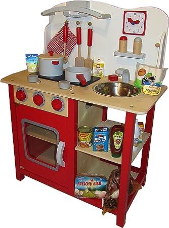 03420 cucina per bambini in legno multicolore