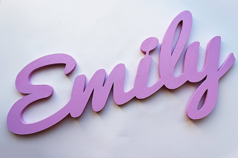 Plaques personnalis/ées pour les murs Emily La d/écoration pour chambre d/'enfants Plaques de Pr/énoms La commande personnalis/ée pour un gar/çon ou pour une fille Cadeaux personnalis/és