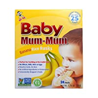 Hot-Kid Baby Mum-Mum Rice Rusks, Banana, Gluten Free, Allergen Free, Non-GMO, Rice...