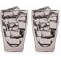 "'2x 300ml ""gris térmicos para Latte Macchiato Vasos"