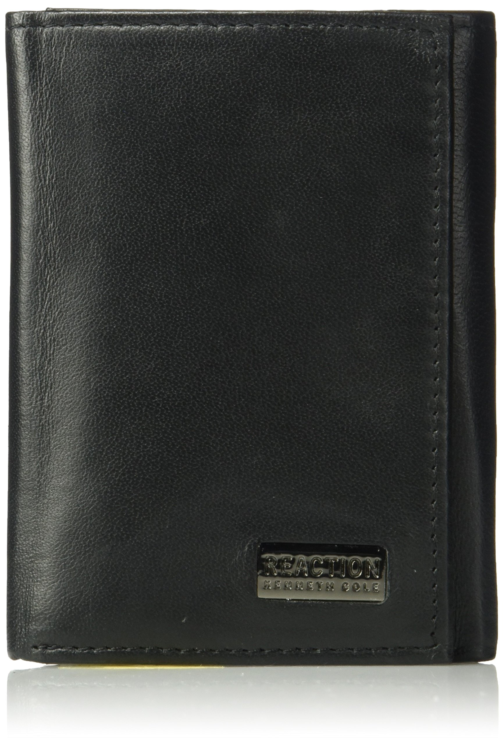 Kenneth Cole Reaction Men's Wallet - RFID Genuine Leather Slim Trifold with ID Window and Card Slots by Kenneth Cole REACTION