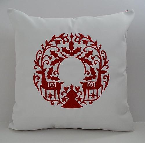 Amazon.com: Scandinavian Christmas Pillow Cover | Sunbrella ...