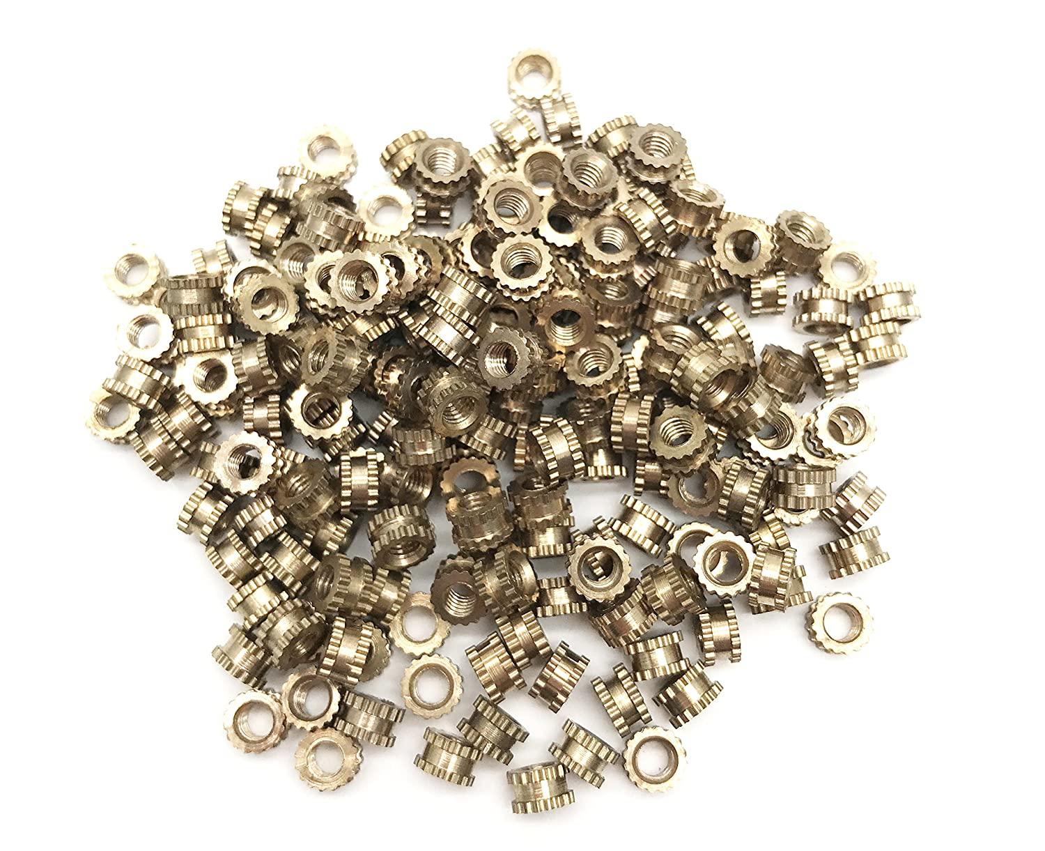 ZXHAO M3 x 3 x 5.3mm Female Thread Brass Cylinder Injection Knurled Threaded Round Insert Embedded Nuts 200 Pcs Foshan Nanhai District Guang-FO Hardware City Exhibition Center 2 building