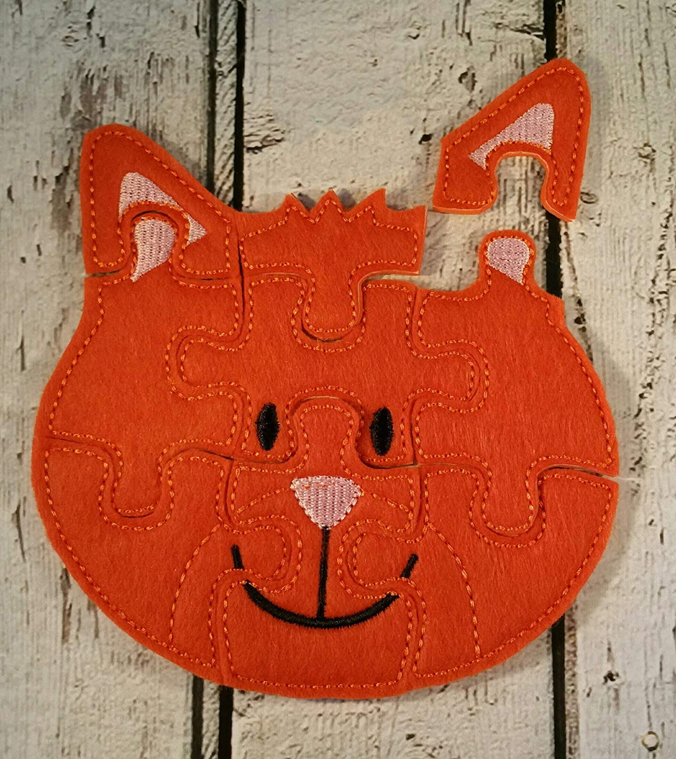 Cat Felt Jigsaw Puzzle For Toddlers Party Favors Educational Learning Activity Toys