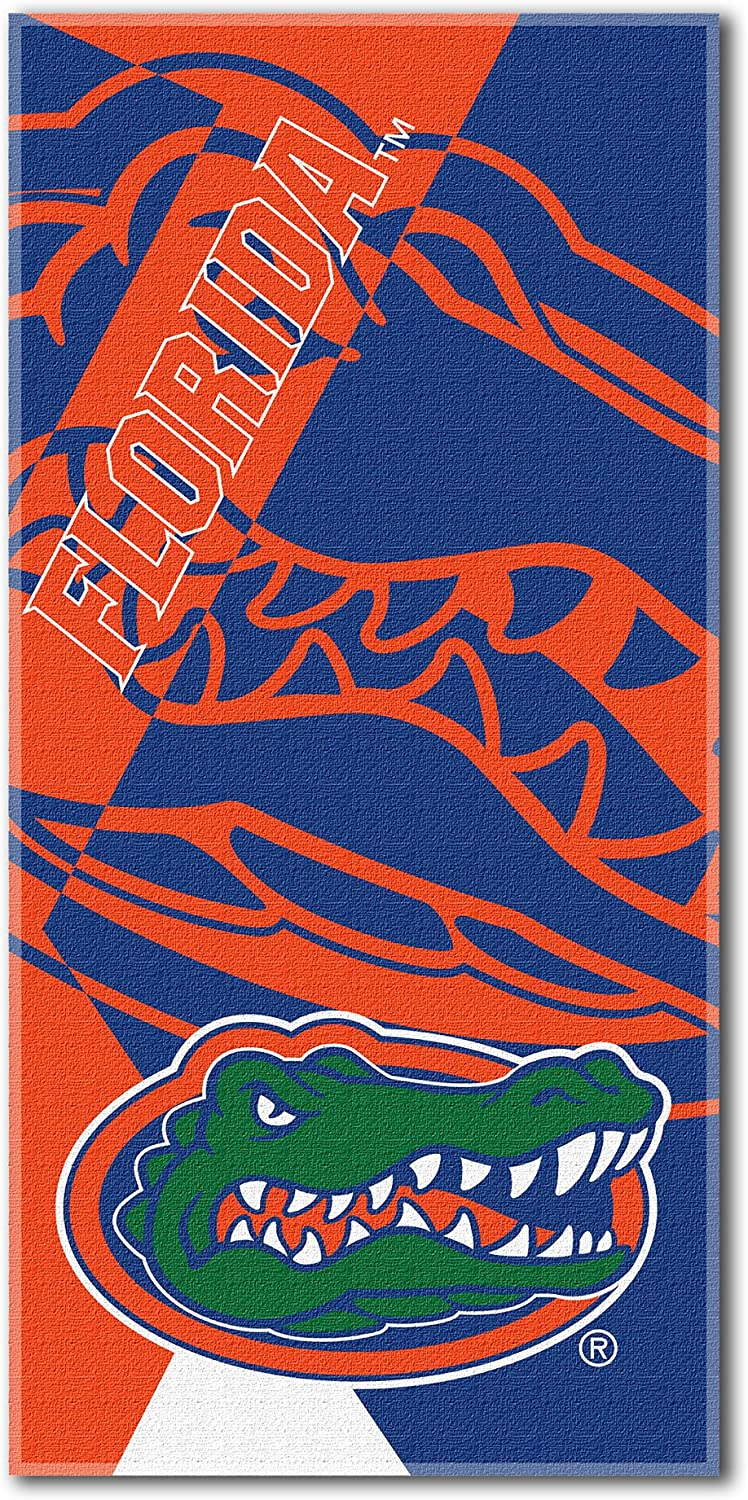 34 x 72 Multi Color Officially Licensed NCAA Puzzle Beach Towel