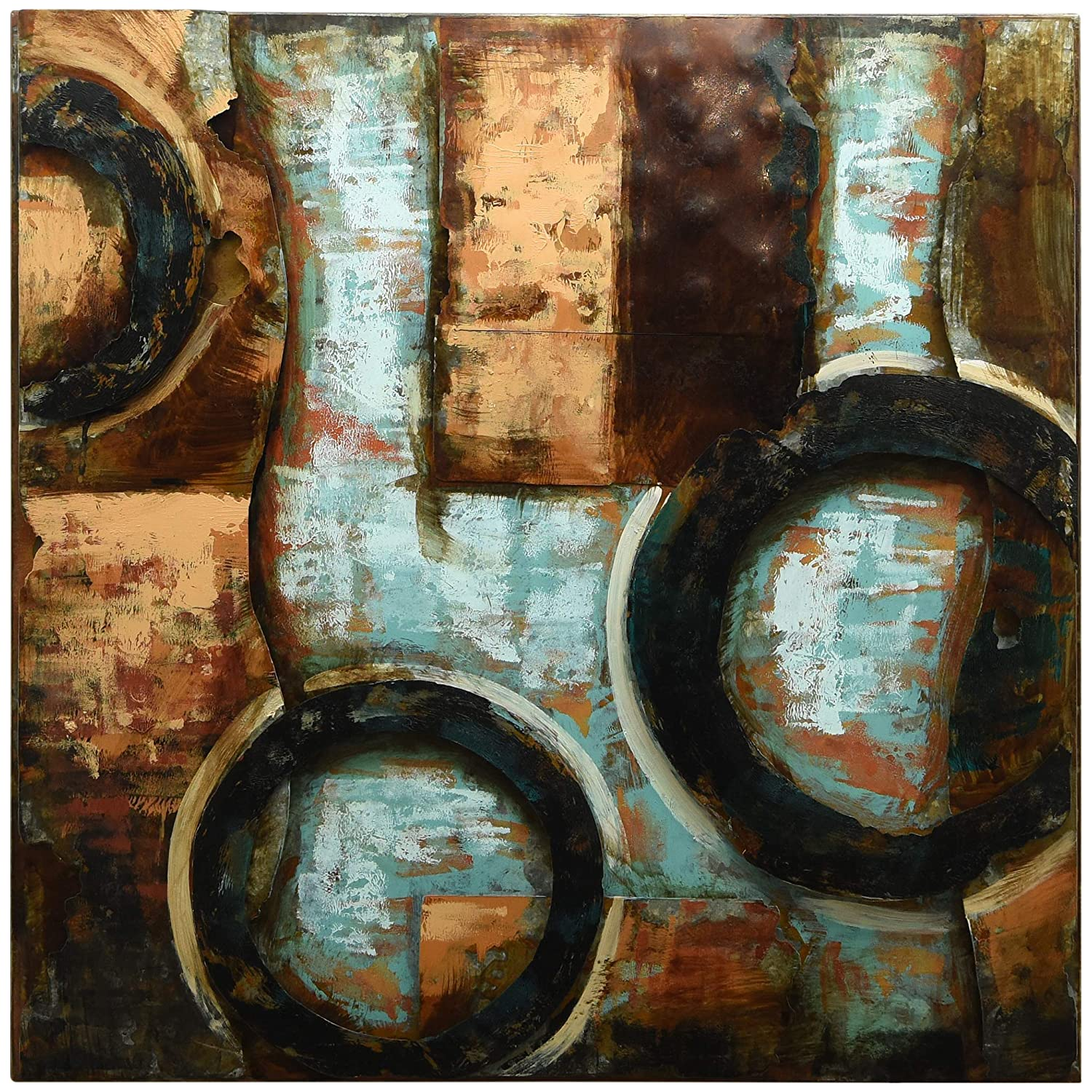 Empire Art Direct 'Revolutions 1' Mixed Media Hand Painted Iron Wall Sculpture by Primo