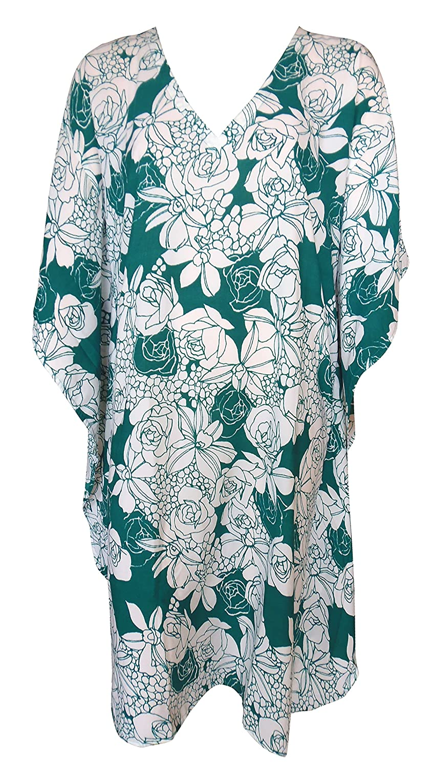 SUNROSE Allover Floral Prined Plus Size Beack Caftan Kaftan Cover up 209