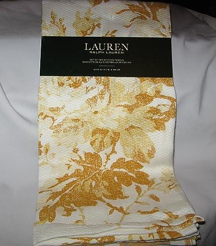 Amazon Com Lauren Ralph Lauren Set Of 2 Kitchen Tea Towels