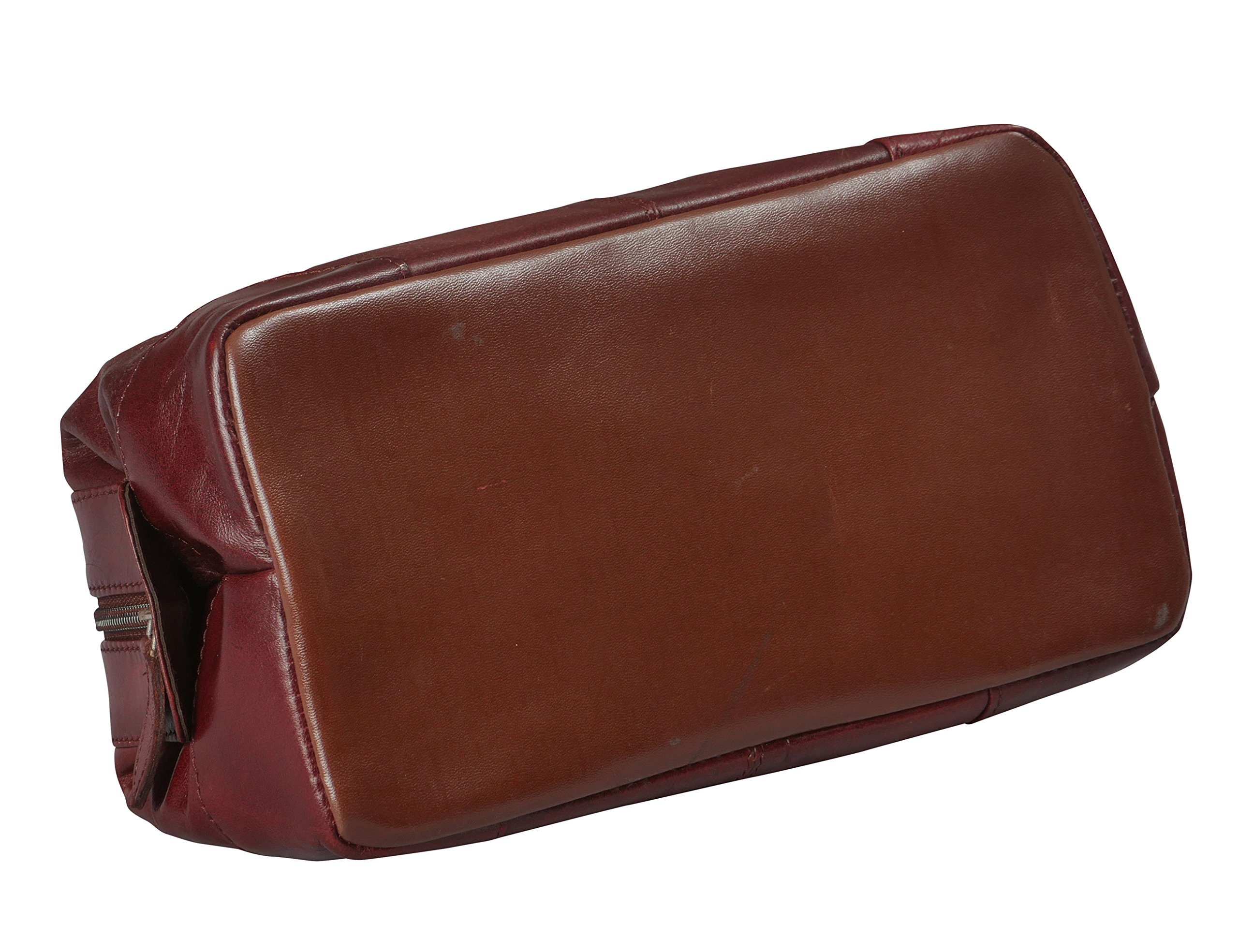 9838a1f306e Mens Toiletry Bag Dopp Kit by Bayfeild Bags-Leather Vintage Shave Kit Travel    Medicine Bag (10x5x5) (burgandy) Health and Beauty