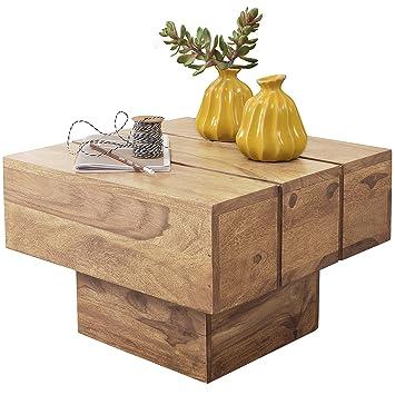 Wohnling Table Basse Quatre Carré Bois Massif Table De Salon Design