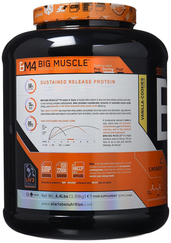Starlabs Nutrition BM4 Big Muscle Suplemento Nutricional Sabor Galletas de Vainilla - 2000 gr: Amazon.es: Salud y cuidado personal