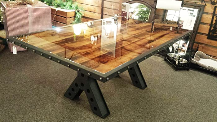 Amazoncom Modern Industrial Rustic Foot Dining Table Kitchen - 6 foot dining room table