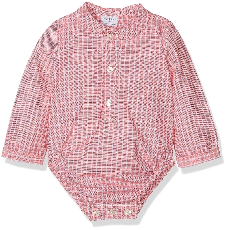 Neck & Neck Camicia Formale Bimbo Rosso 74 cm (Dimensioni Produttore:12 Mesi) 17I07507