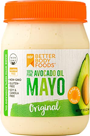 Amazon.com : BetterBody Foods Avocado Oil Mayonnaise, Avocado Oil ...