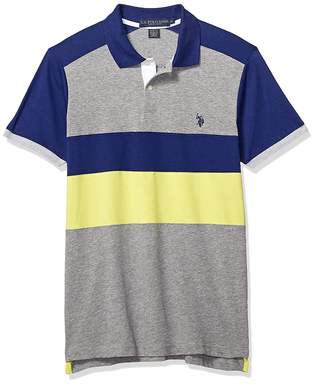 U.S. POLO ASSN. Hombre 11-8769-0H Manga Corta Camisa Polo - Azul ...