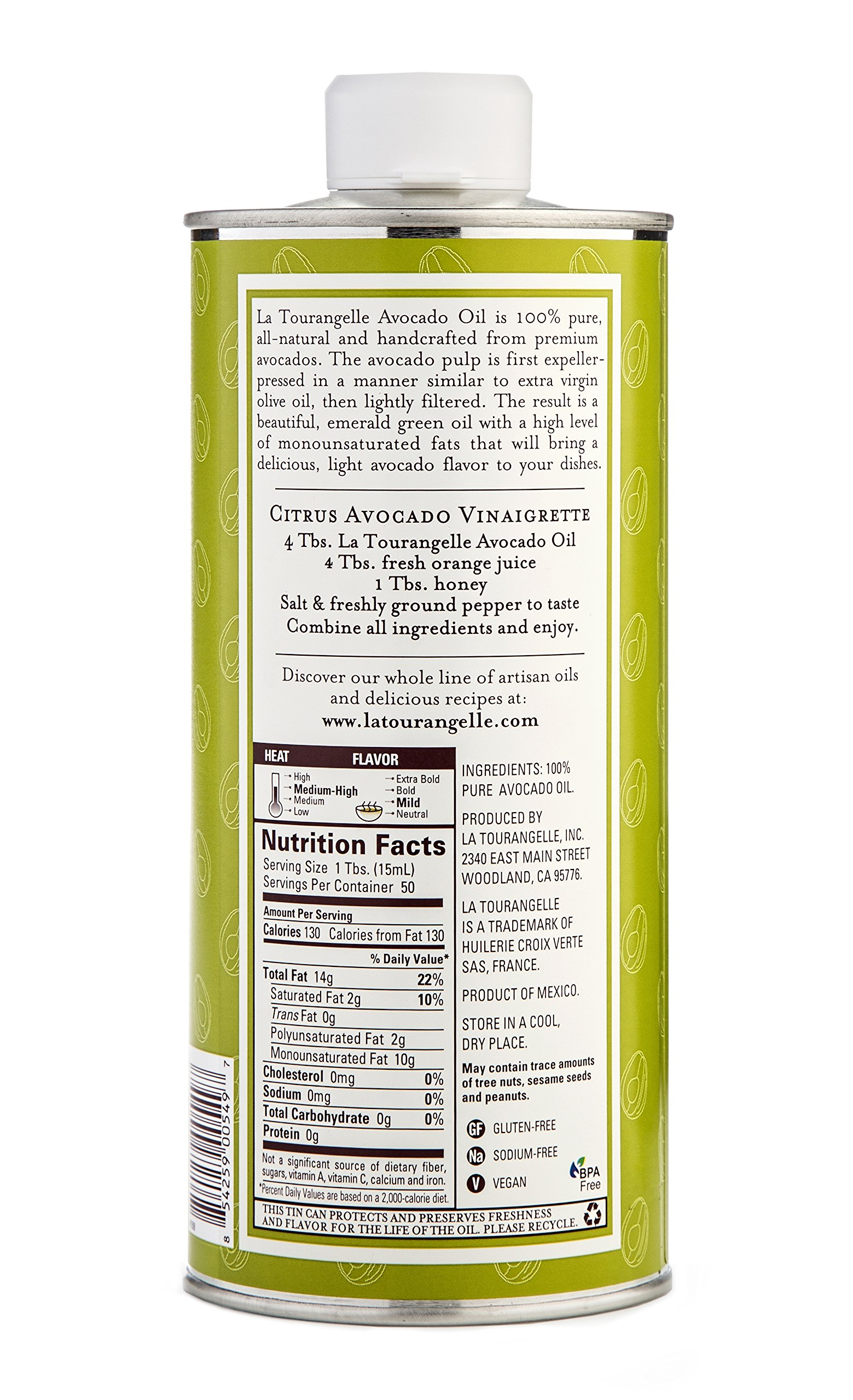 La Tourangelle Avocado Oil 25.4 Fl. Oz., All-Natural, Artisanal, Great for Salads, Fruit, Fish or Vegetables, Great Buttery Flavor by La Tourangelle (Image #4)