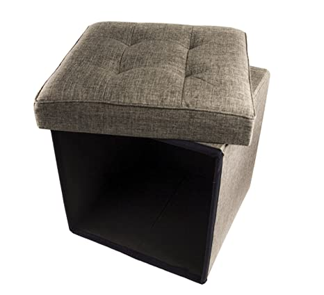 Exceptionnel Folding Cube Storage Ottoman With Padded Seat, 15u0026quot; X 15u0026quot; ...