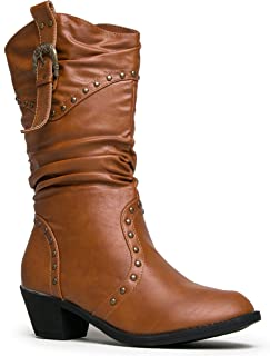Amazon.com | Refresh Women Wild-02 Western Style Cowboy Boots