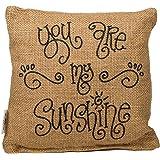 "Small Burlap My Sunshine Pillow (8x8"")"