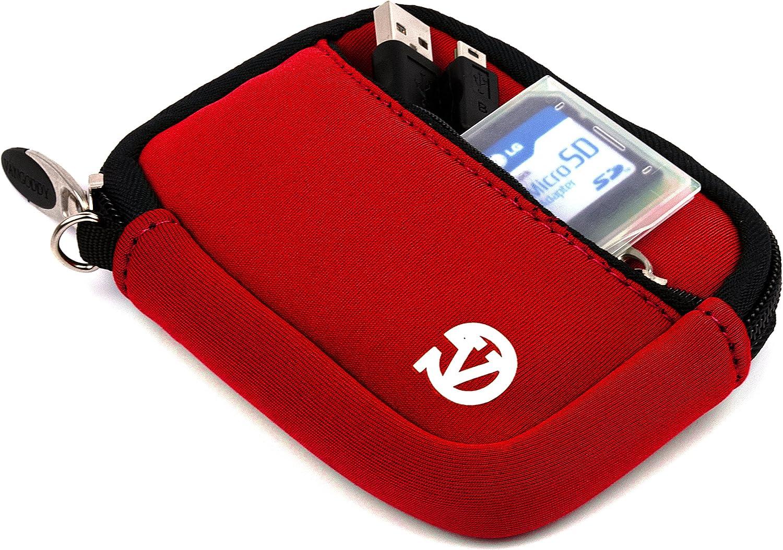 Plus Screen Protector and Mini Tripod Stand M550 Red Mini Digital Cameras M381 C140 M575 M590 M530 VanGoddy Mini Glove Sleeve Pouch Case for Kodak EasyShare M340 M341 Touch M380