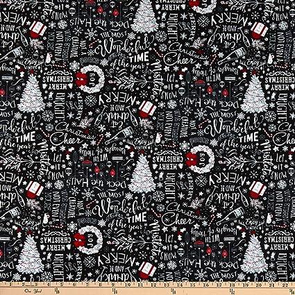 Christmas Chalkboard.Amazon Com Timeless Treasures Let It Snow Christmas