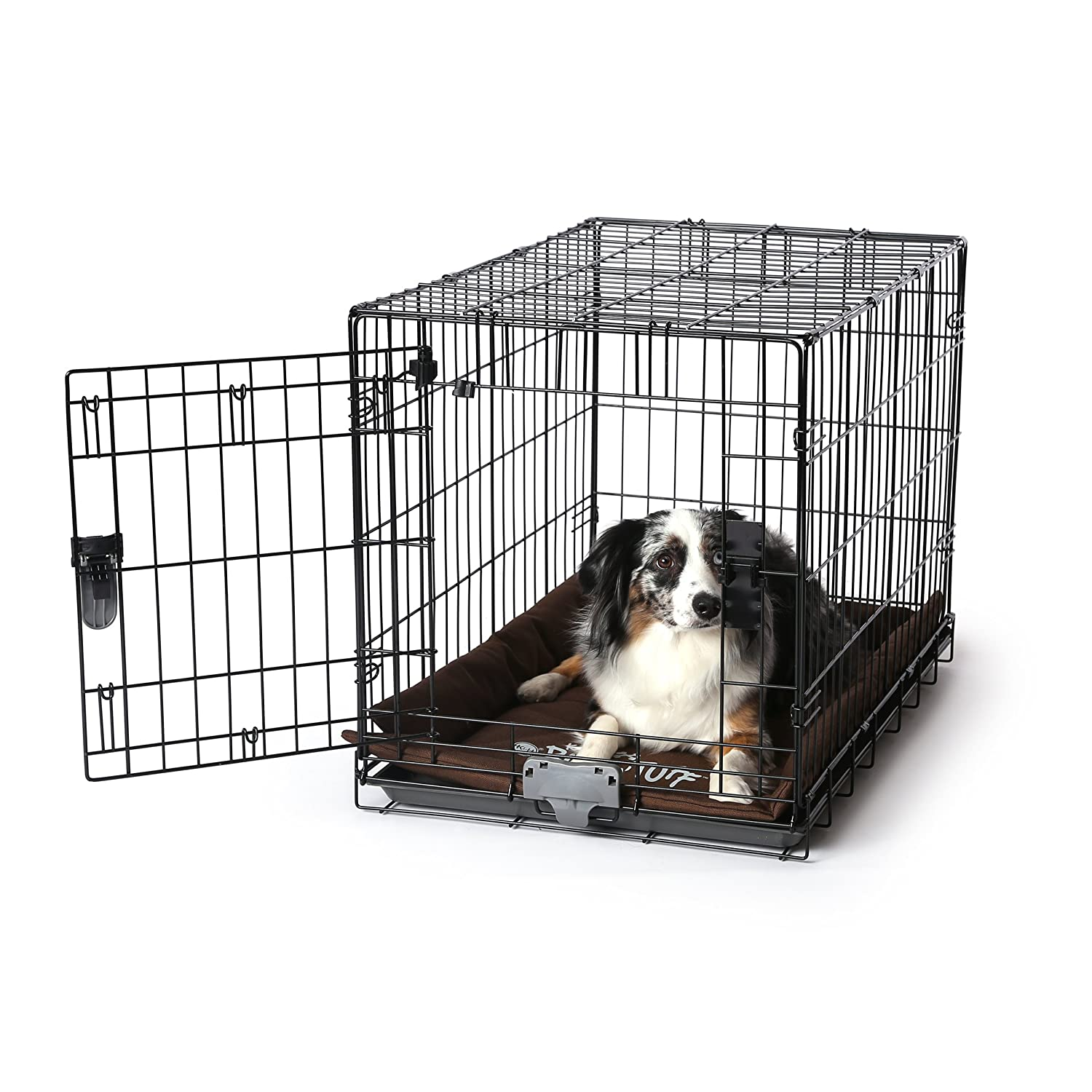 K&H Pet Products K-9 Ruff n' Tuff Crate Pad Medium Chocolate (21  x 31 ) 1260 Denier Rip-Stop Polyester for Pets That Need Extra Tough Fabric