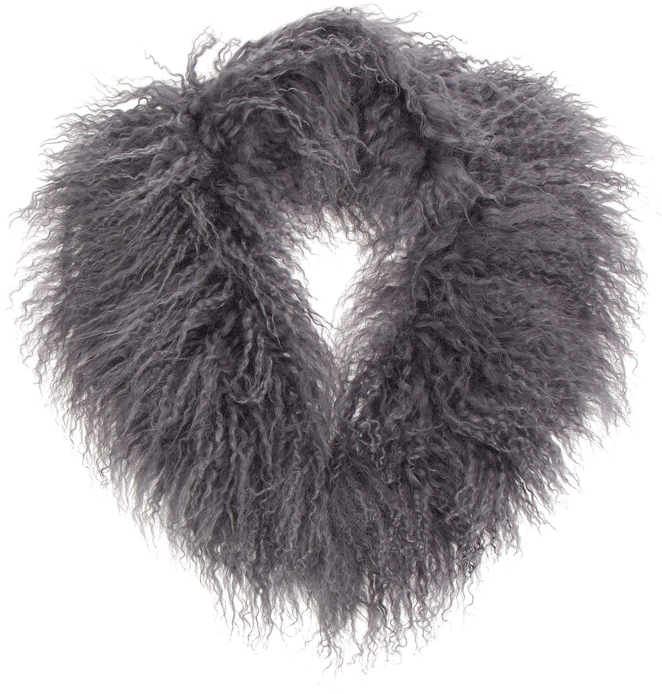 Tibetan Curly Lamb Fur Shawl Collar by Overland Sheepskin Co