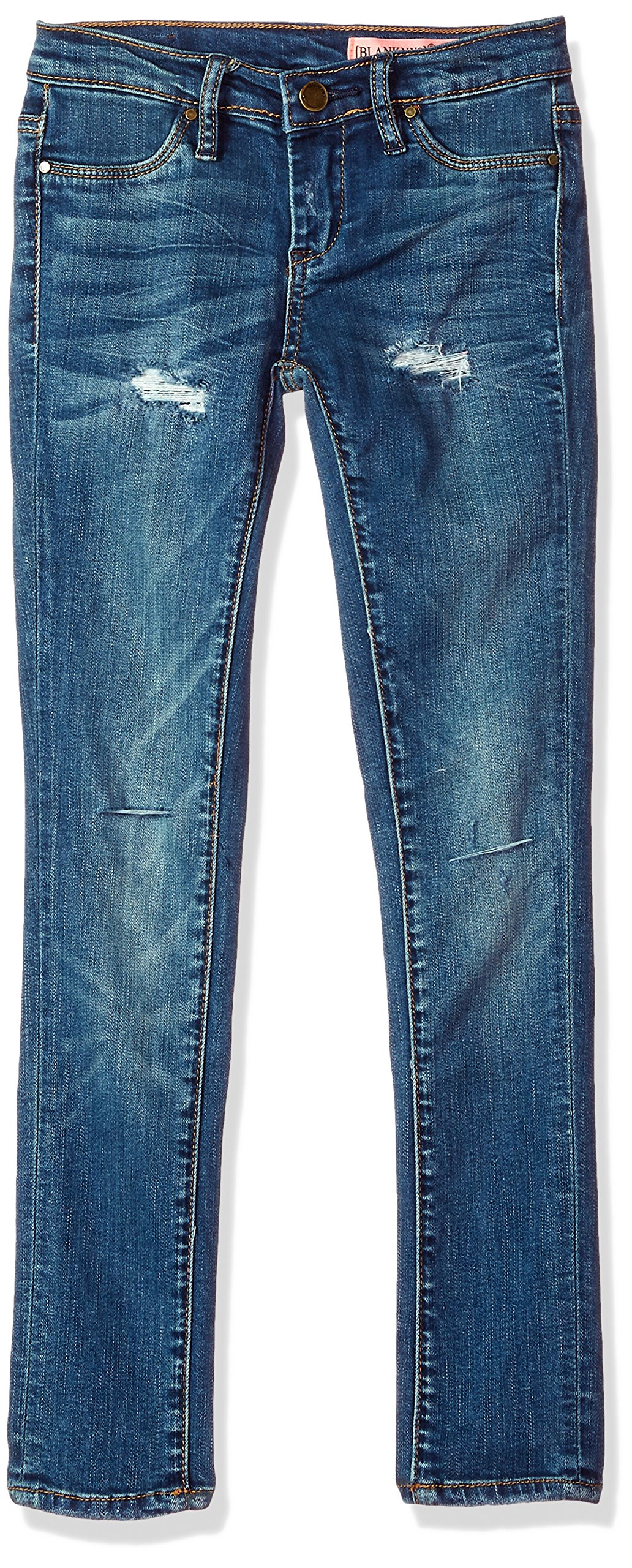 [BLANKNYC] Big Girl's Distressed Super Skinny Pants, no time for DAT, 12 by [BLANKNYC] (Image #1)