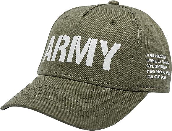 Alpha Industries Hombres Gorras/Gorra Snapback Army: Amazon.es ...