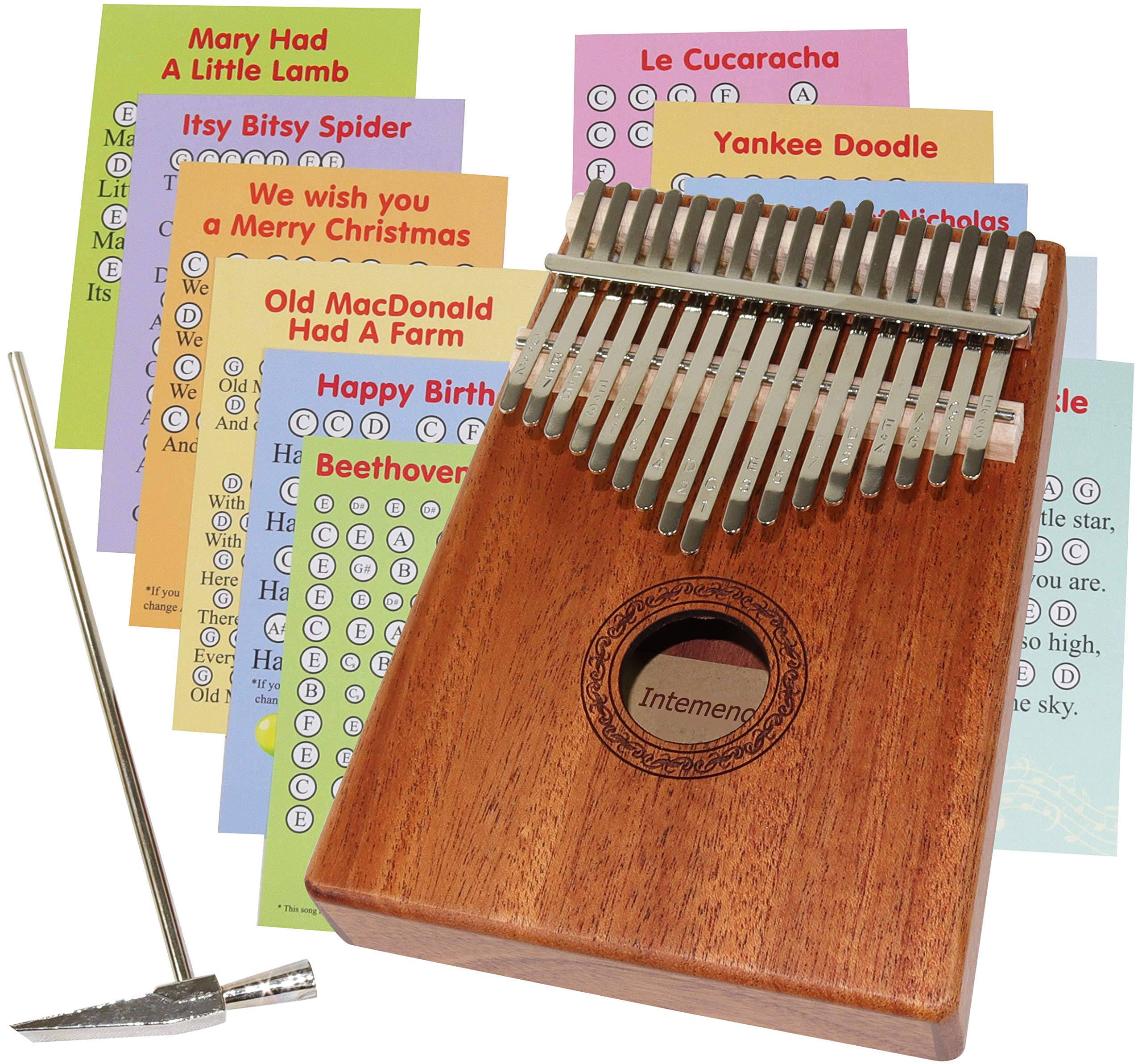 Kalimba Thumb Piano 17 keys - Note stickers - Songbook for Beginners