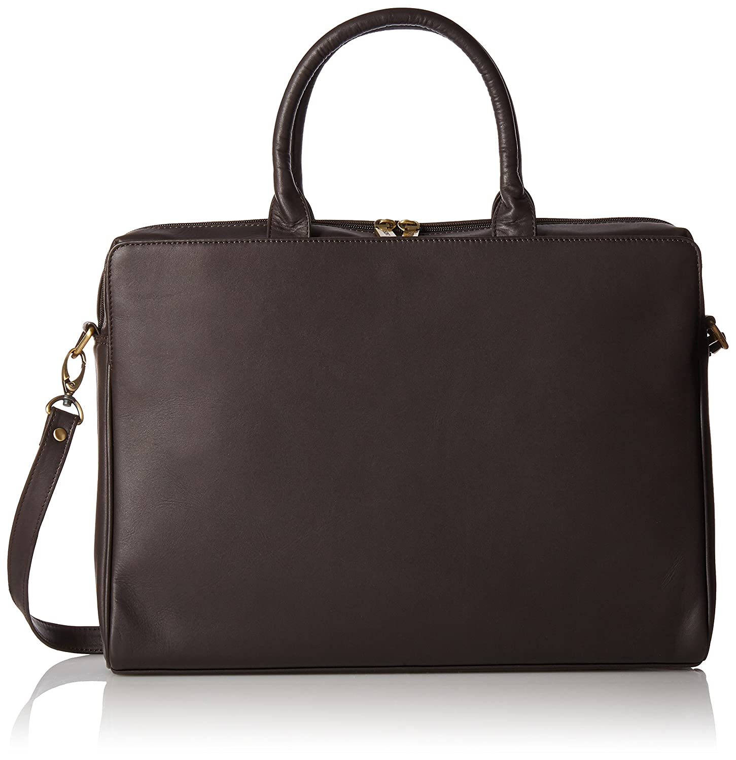 Visconti Ladies Leather Top Handle Black Handbag Briefcase Laptop Case, Black, One Size Visconti Luggage 18427