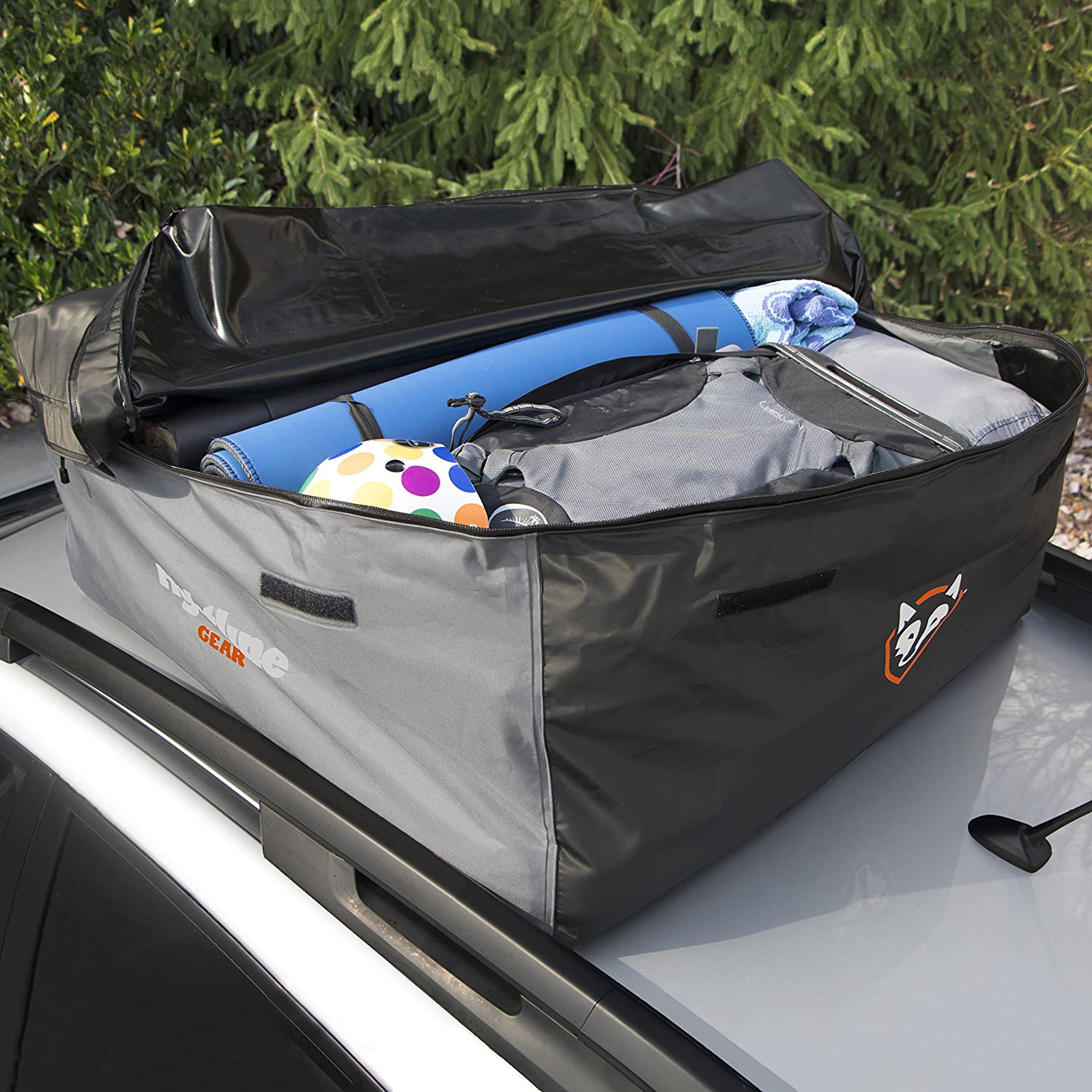 12 Cubic feet 100/% Waterproof Rightline Gear 100S10 Sport 1 Car Top Carrier Works with or Without Vehicle roof Rack