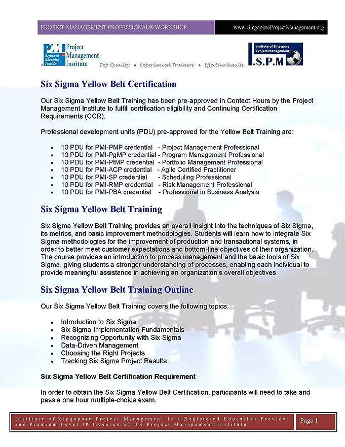 Amazon Six Sigma Yellow Belt Online Certification And Exam