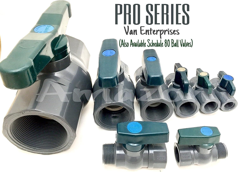 1//2 PRO SERIES PVC Bulkhead Fitting Adapter For Rain Barrels Ponds Water Tanks Aquariums