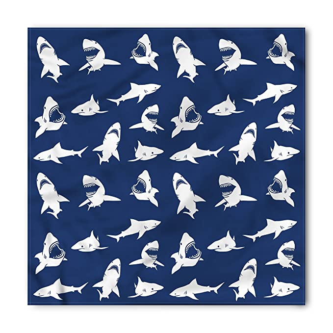 Amazon Shark Bandana By Ambesonne Shark Pattern With Various Amazing Shark Pattern
