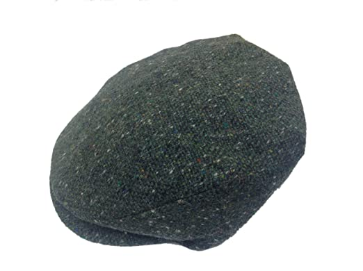 4b34e9fb Image Unavailable. Image not available for. Colour: Hanna Hats Men Donegal Tweed  Vintage Cap Sea Green Salt & Pepper Large