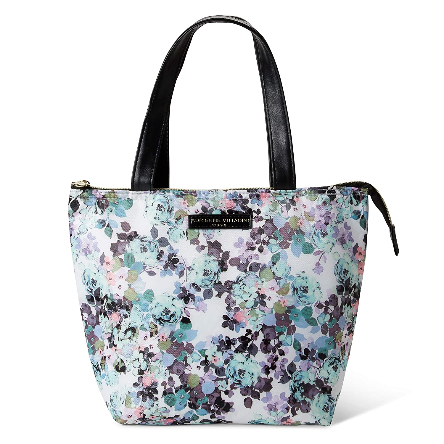 a8bd9d63b495 Insulated Lunch Tote Bag Set: Adrienne Vittadini Lunch Box - Large Reusable  Lunch Bag for Women - Watercolor Floral